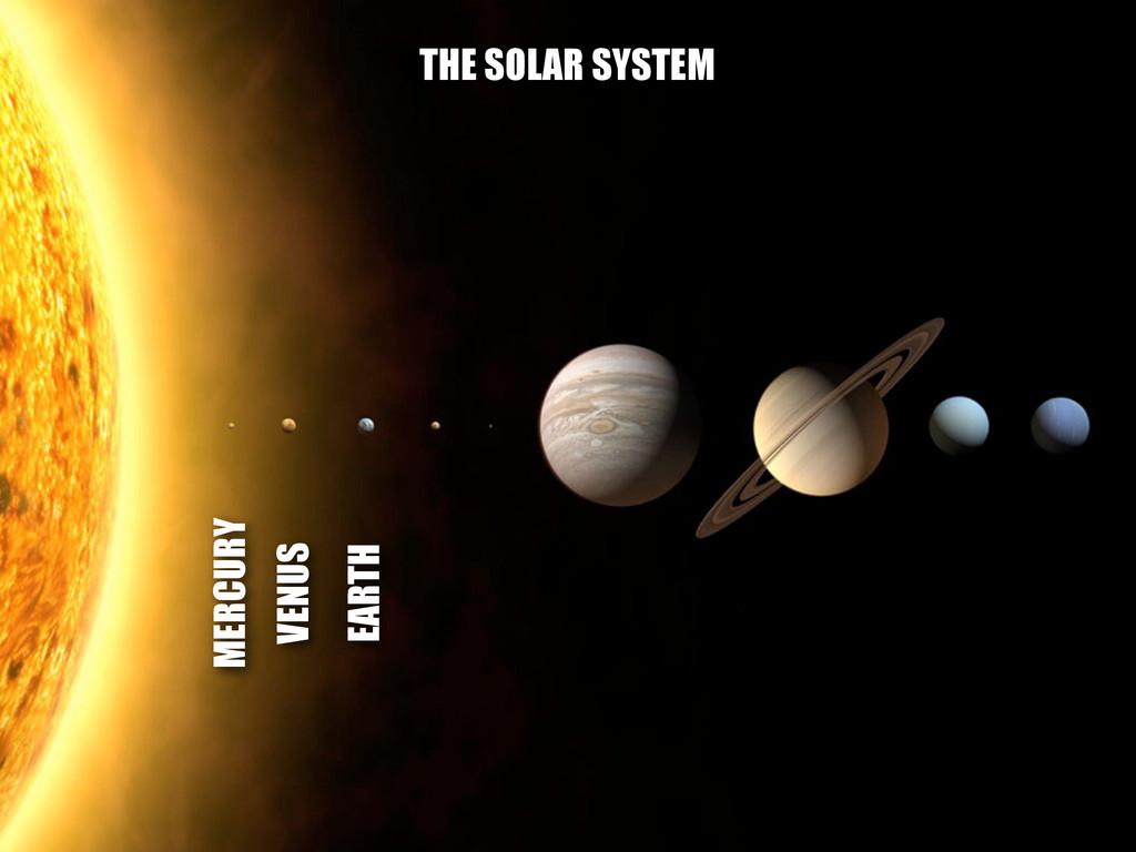 MERCURY VENUS EARTH THE SOLAR SYSTEM