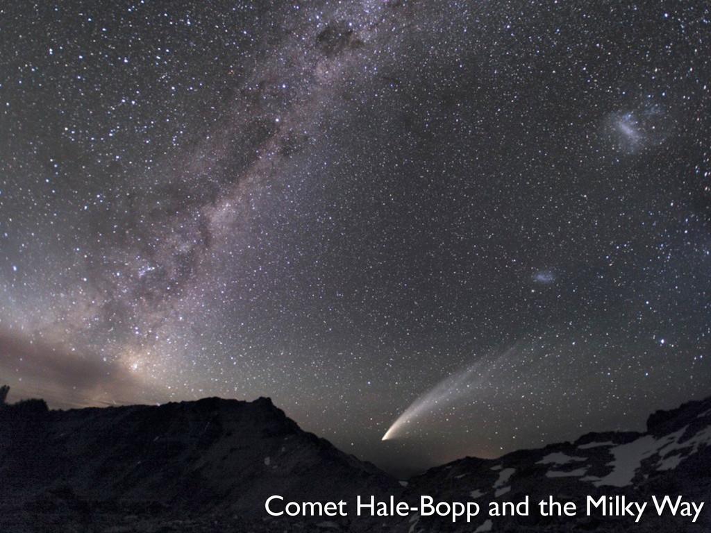 Comet Hale-Bopp and the Milky Way