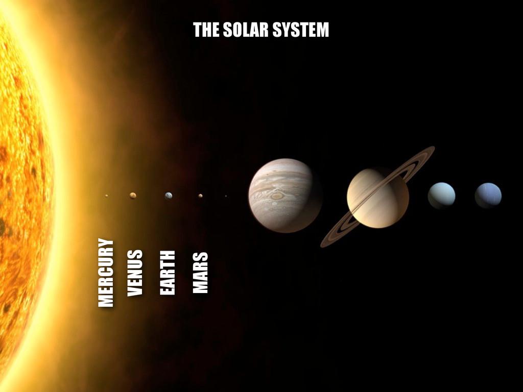 MERCURY VENUS EARTH MARS THE SOLAR SYSTEM
