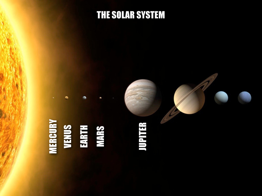 MERCURY VENUS EARTH MARS JUPITER THE SOLAR SYST...