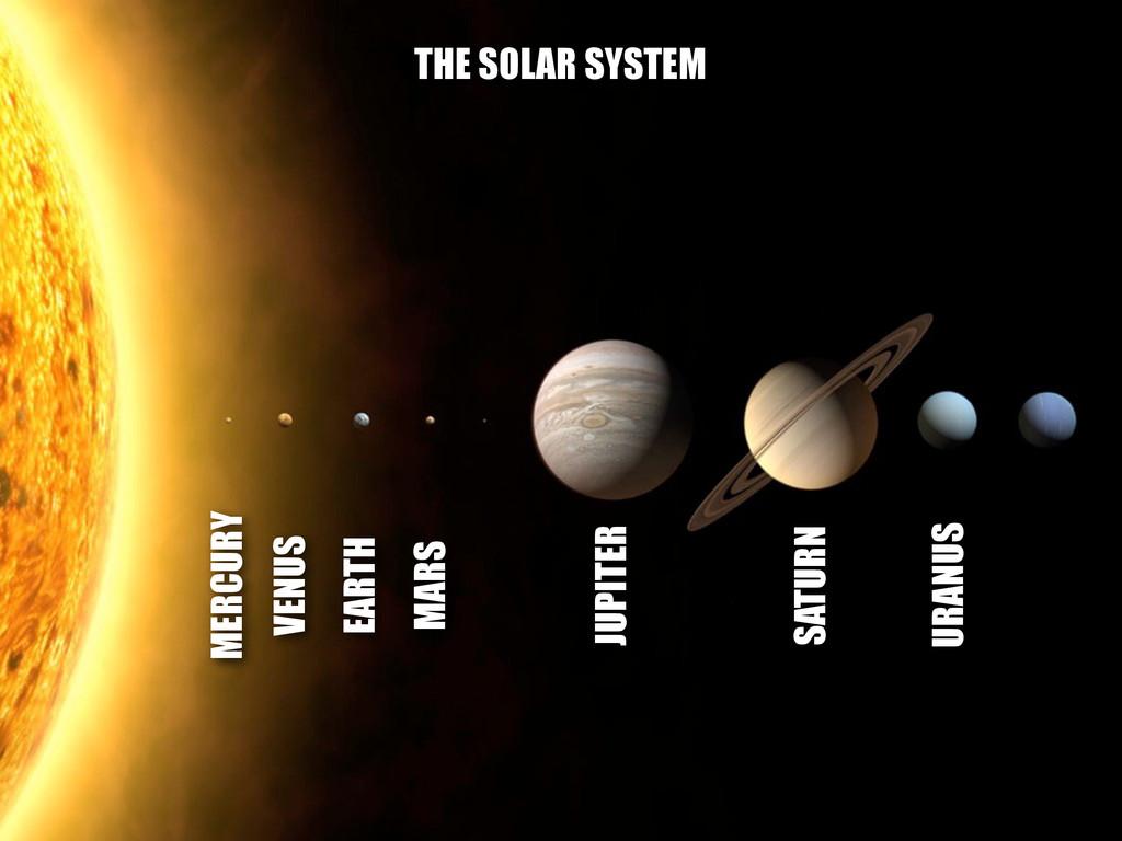 MERCURY VENUS EARTH MARS JUPITER SATURN URANUS ...