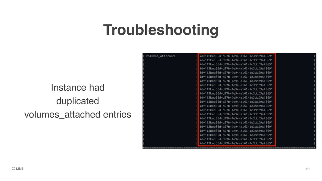 Troubleshooting Instance had    duplicated    v...