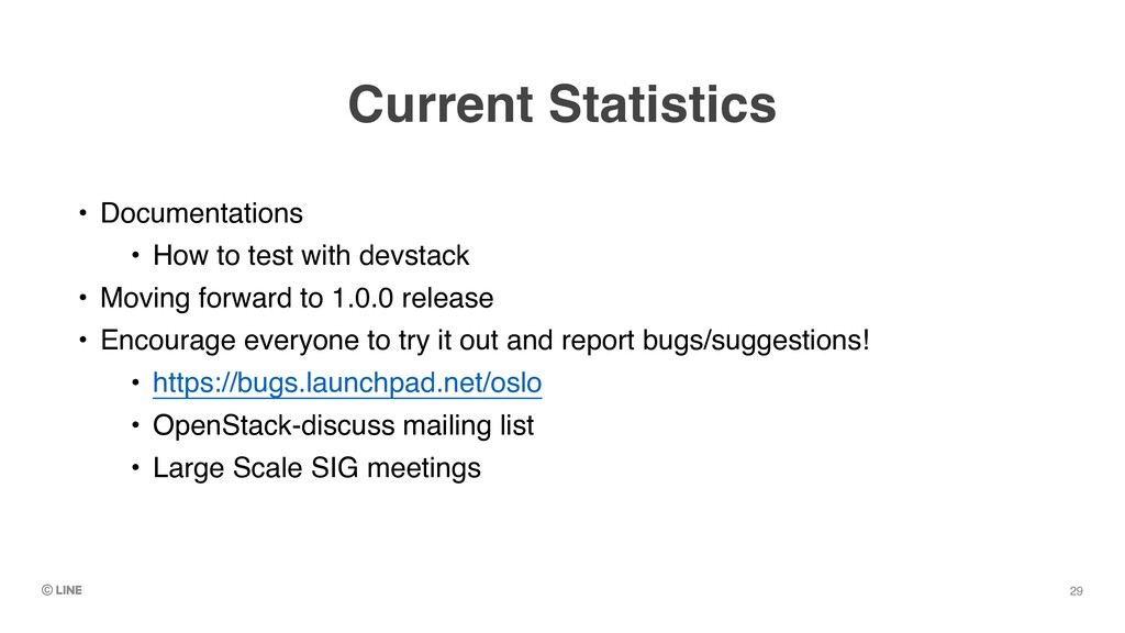 Current Statistics • Documentation s  • How to ...
