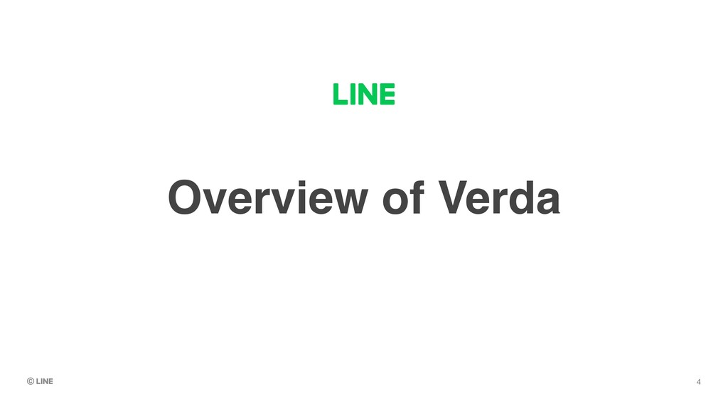 Overview of Verda 4