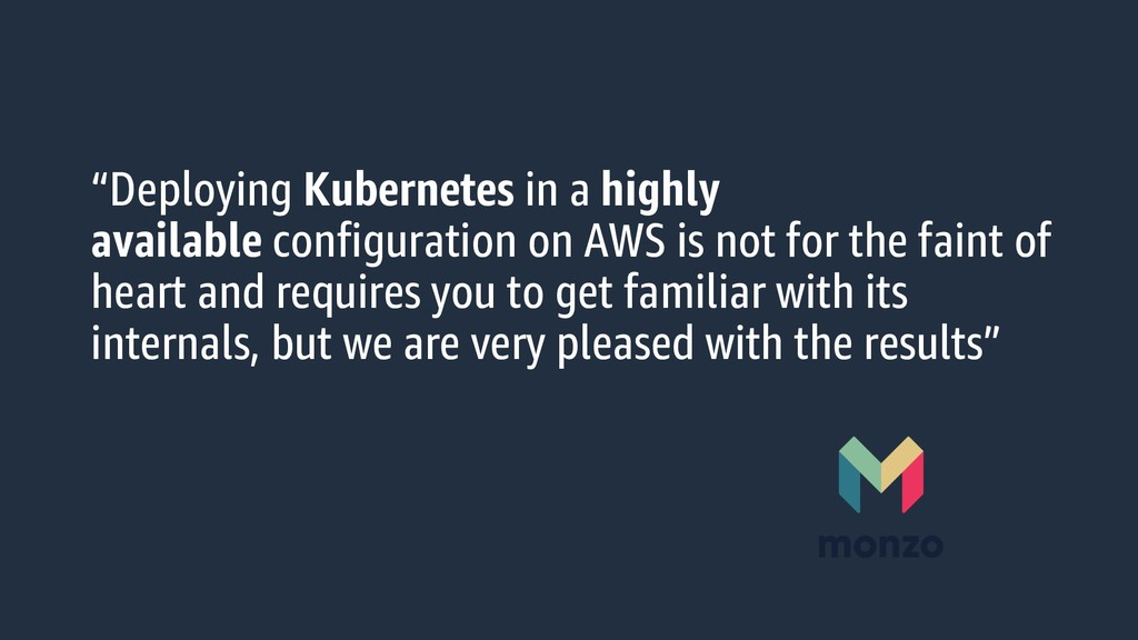 """""""Deploying Kubernetes in a highly available con..."""