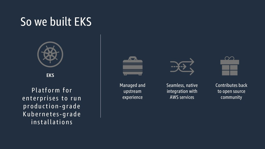 So we built EKS Platform for enterprises to run...