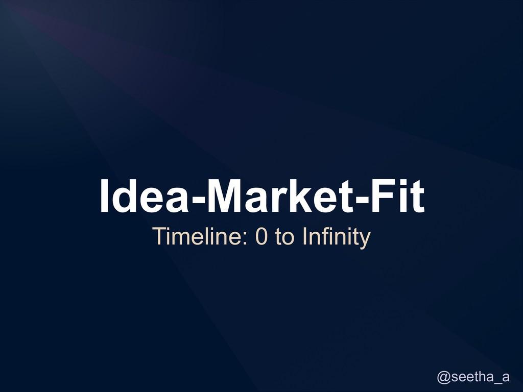 @seetha_a Idea-Market-Fit Timeline: 0 to Infini...