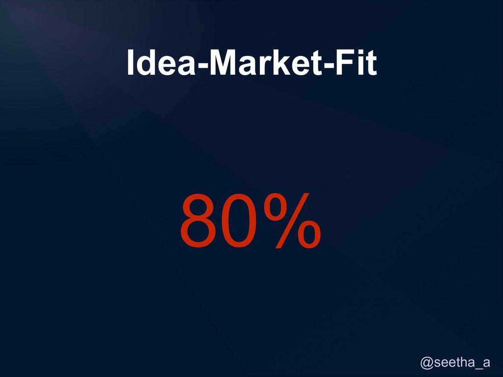 @seetha_a Idea-Market-Fit 80%