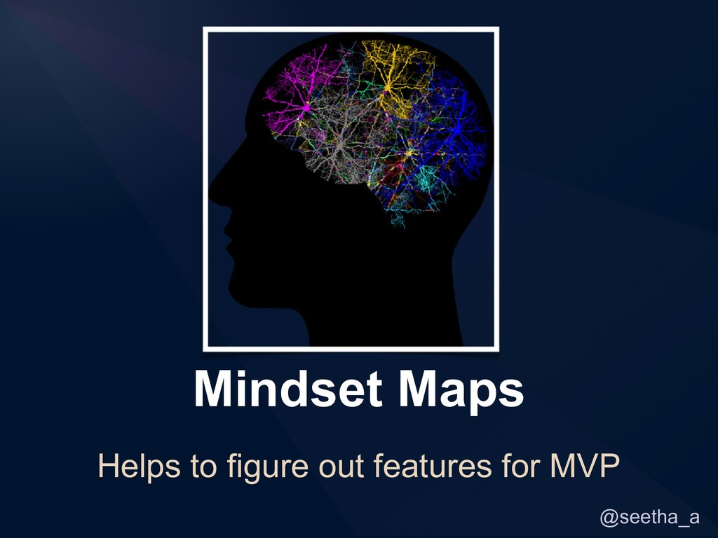 @seetha_a Mindset Maps Helps to figure out feat...