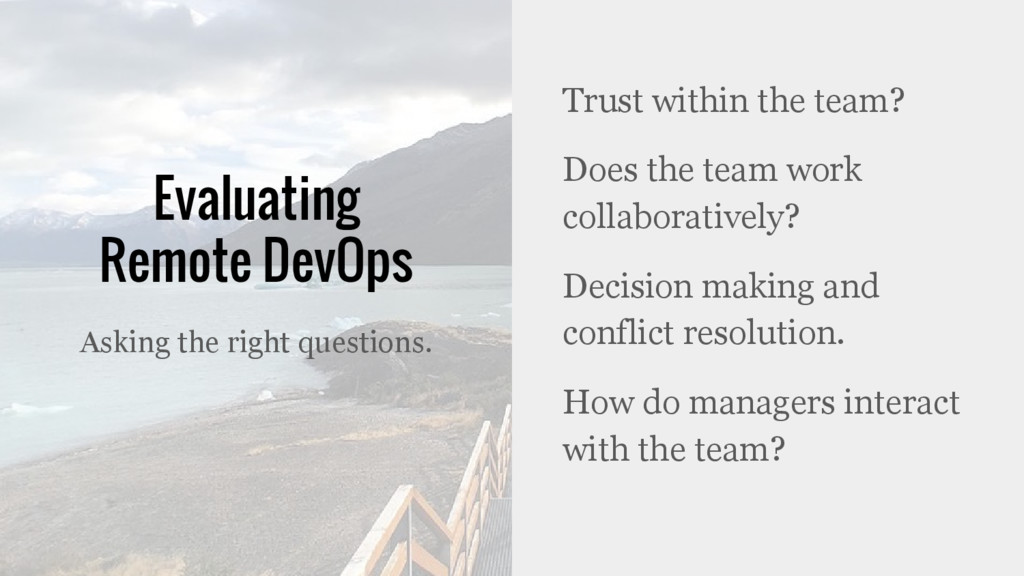 Evaluating Remote DevOps Trust within the team?...