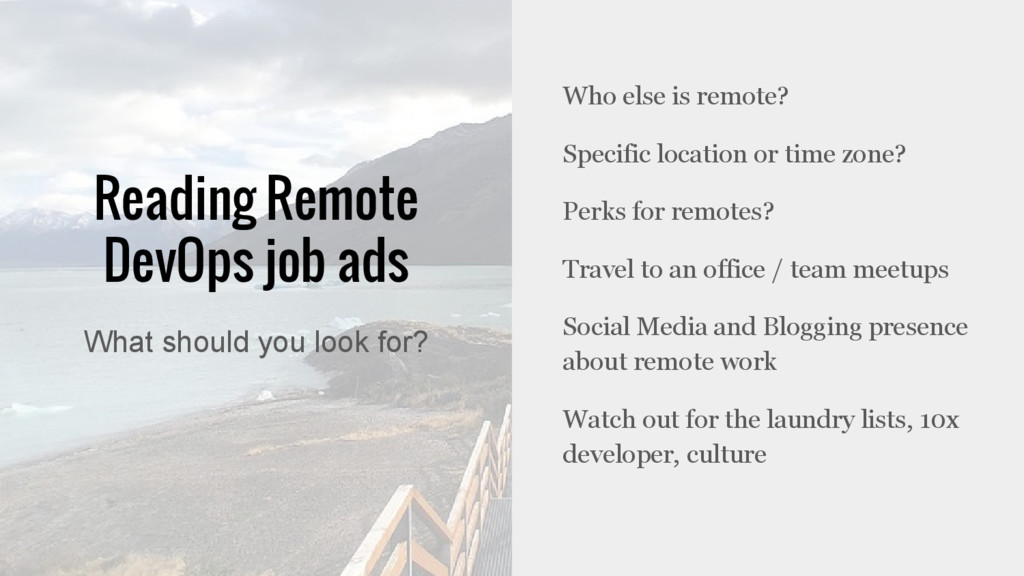 Reading Remote DevOps job ads Who else is remot...