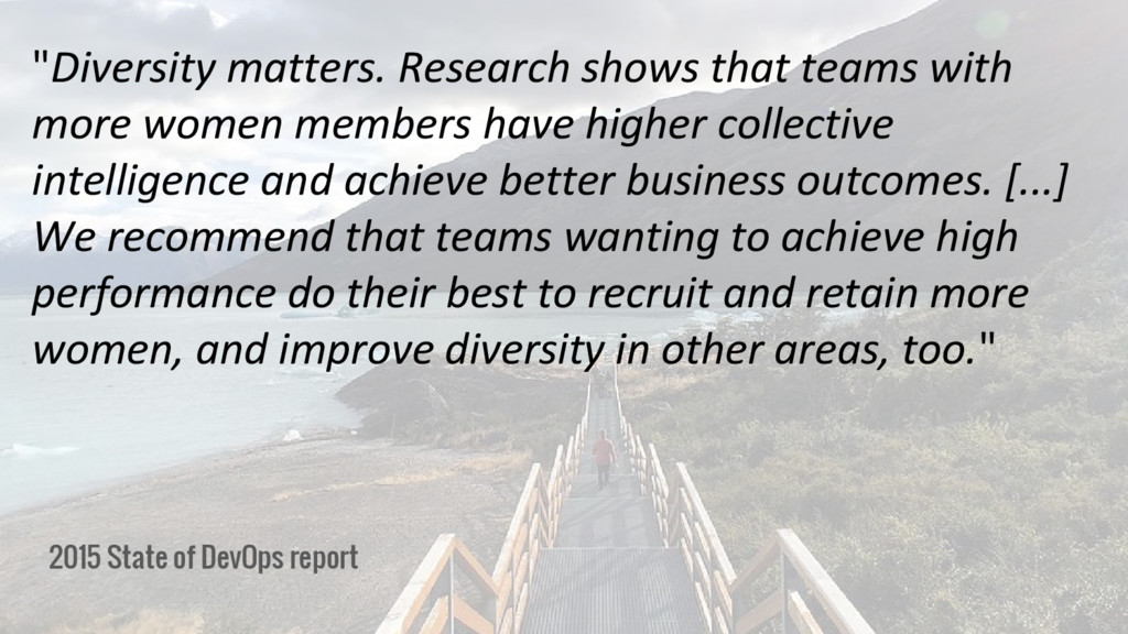 "2015 State of DevOps report ""Diversity matters...."
