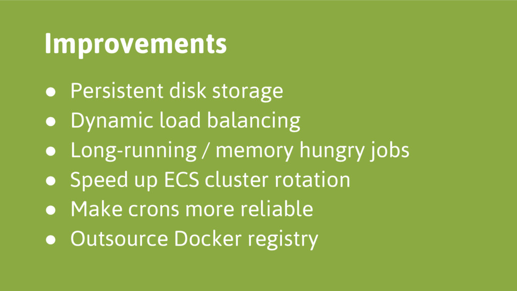 ● Persistent disk storage ● Dynamic load balanc...
