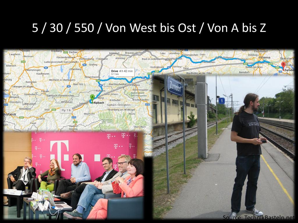 5 / 30 / 550 / Von West bis Ost / Von A bis Z S...