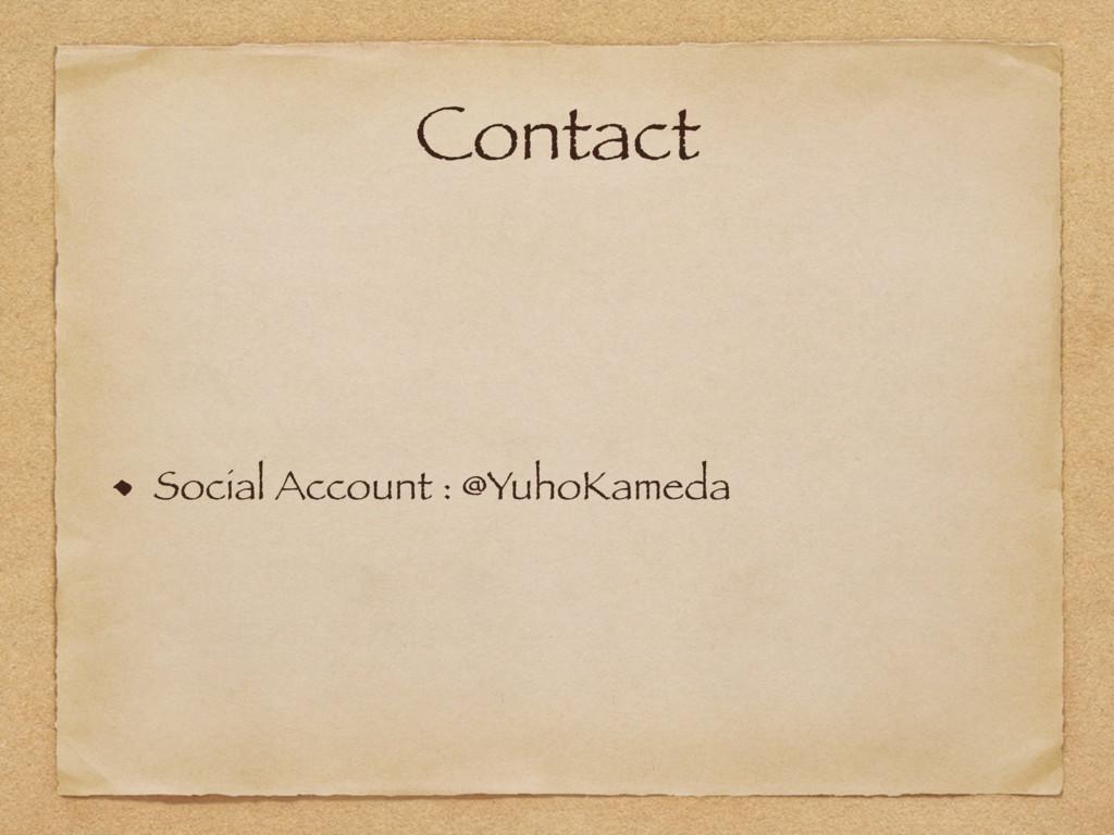 Contact Social Account : @YuhoKameda