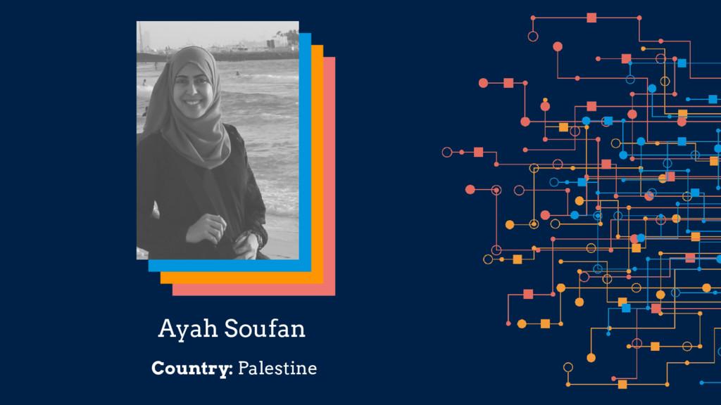 Ayah Soufan Country: Palestine