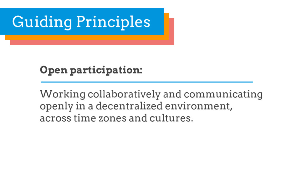 Open participation: Working collaboratively and...