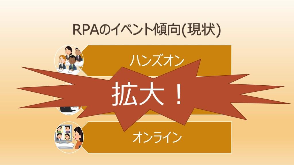 ハンズオン RPAツール(大手中小) オンライン 拡大!