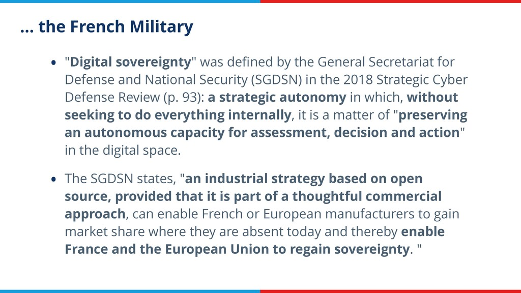 """… the French Military • """"Digital sovereignty"""" w..."""