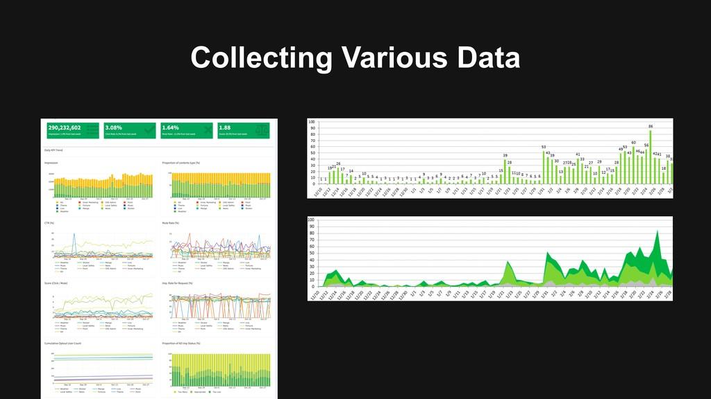 Collecting Various Data