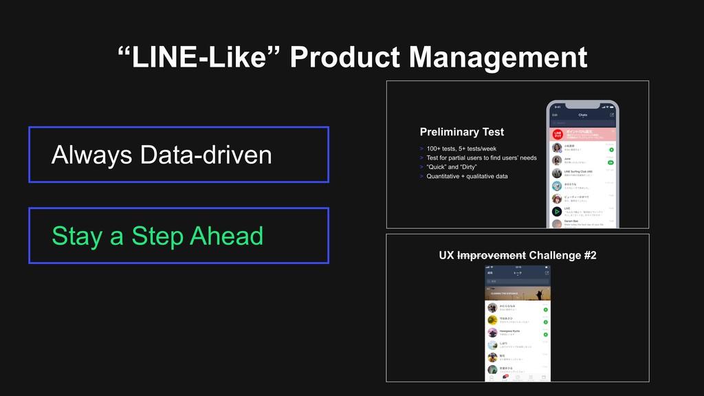 """LINE-Like"" Product Management Always Data-driv..."