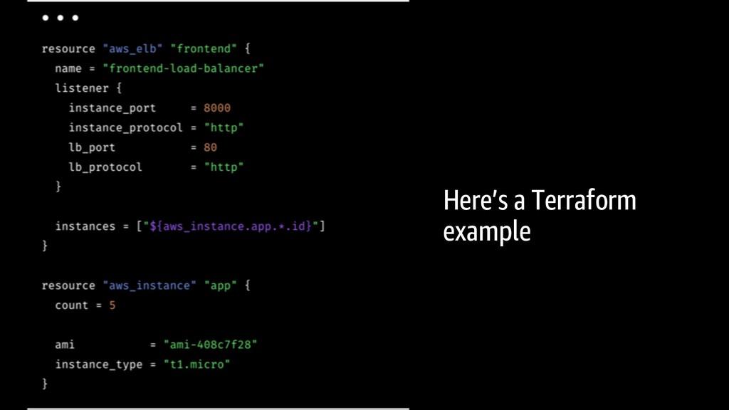 Here's a Terraform example