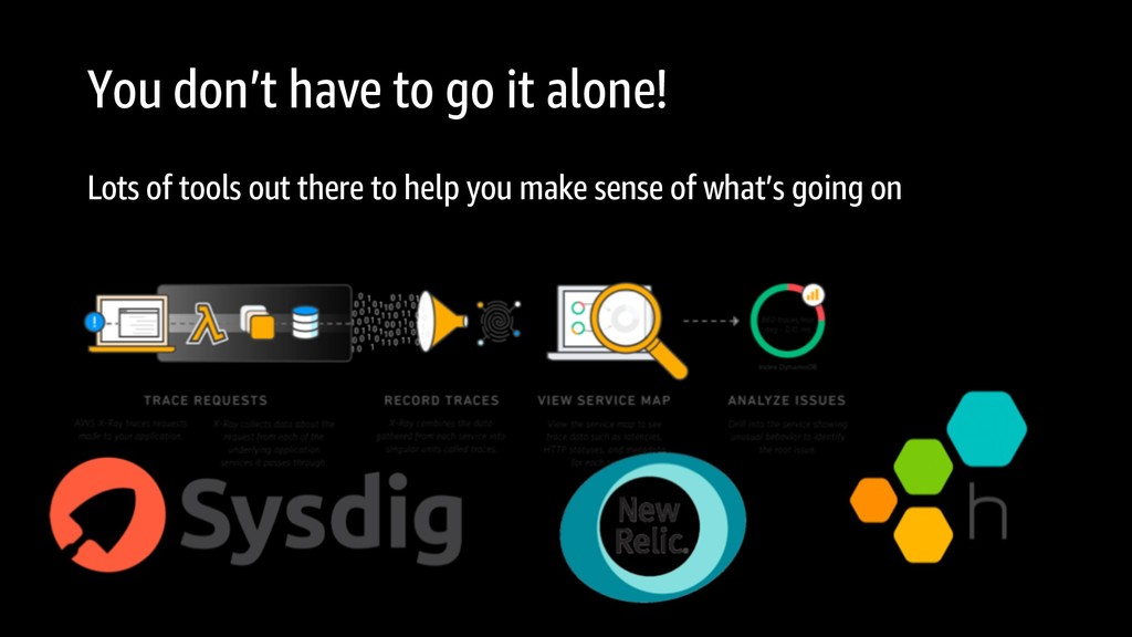 You don't have to go it alone! Lots of tools ou...