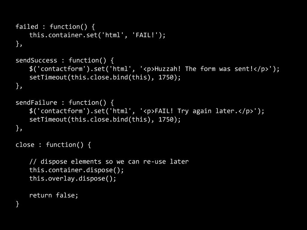 failed : function() {     this.containe...