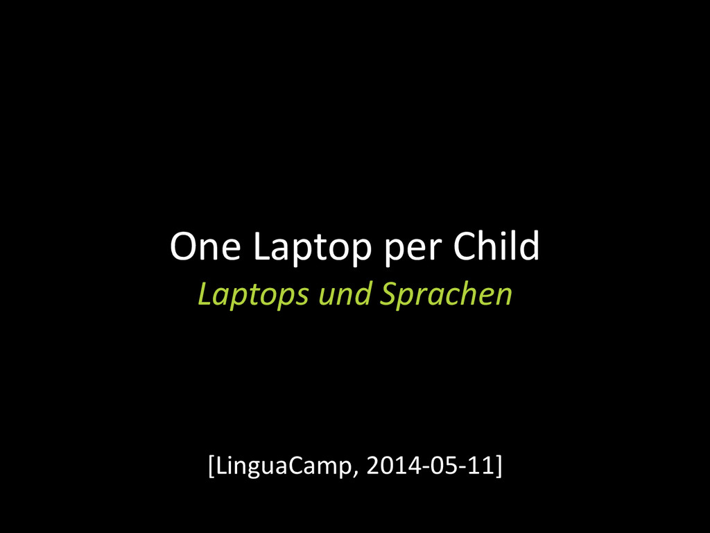 One Laptop per Child Laptops und Sprachen [Ling...