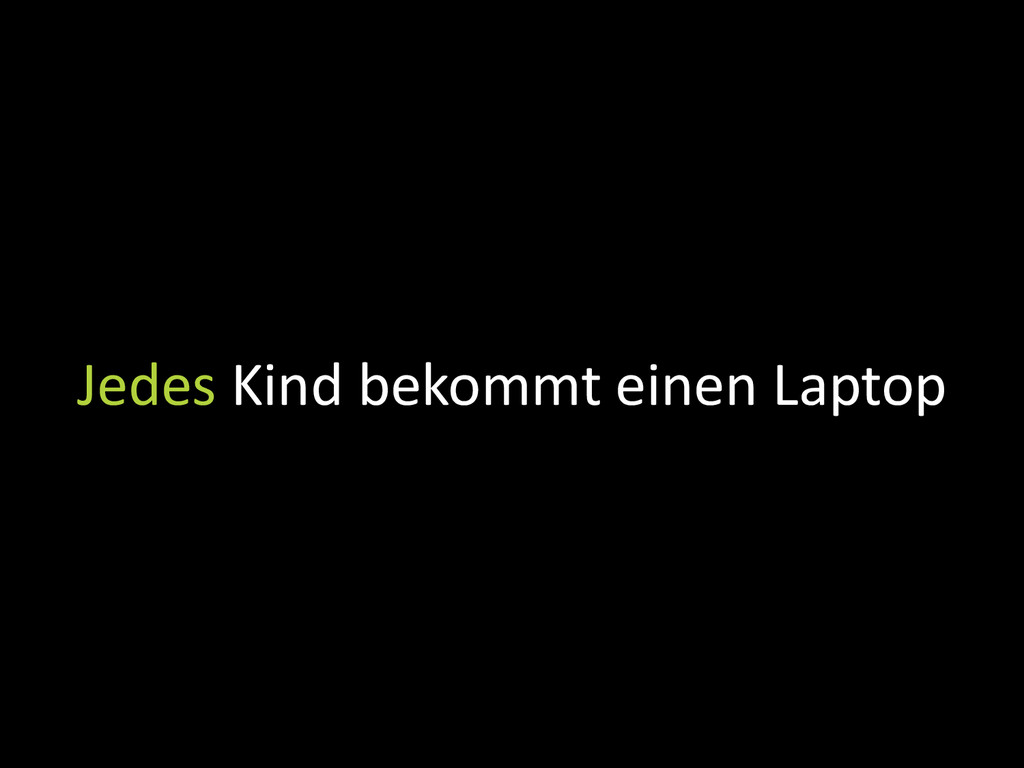Jedes Kind bekommt einen Laptop