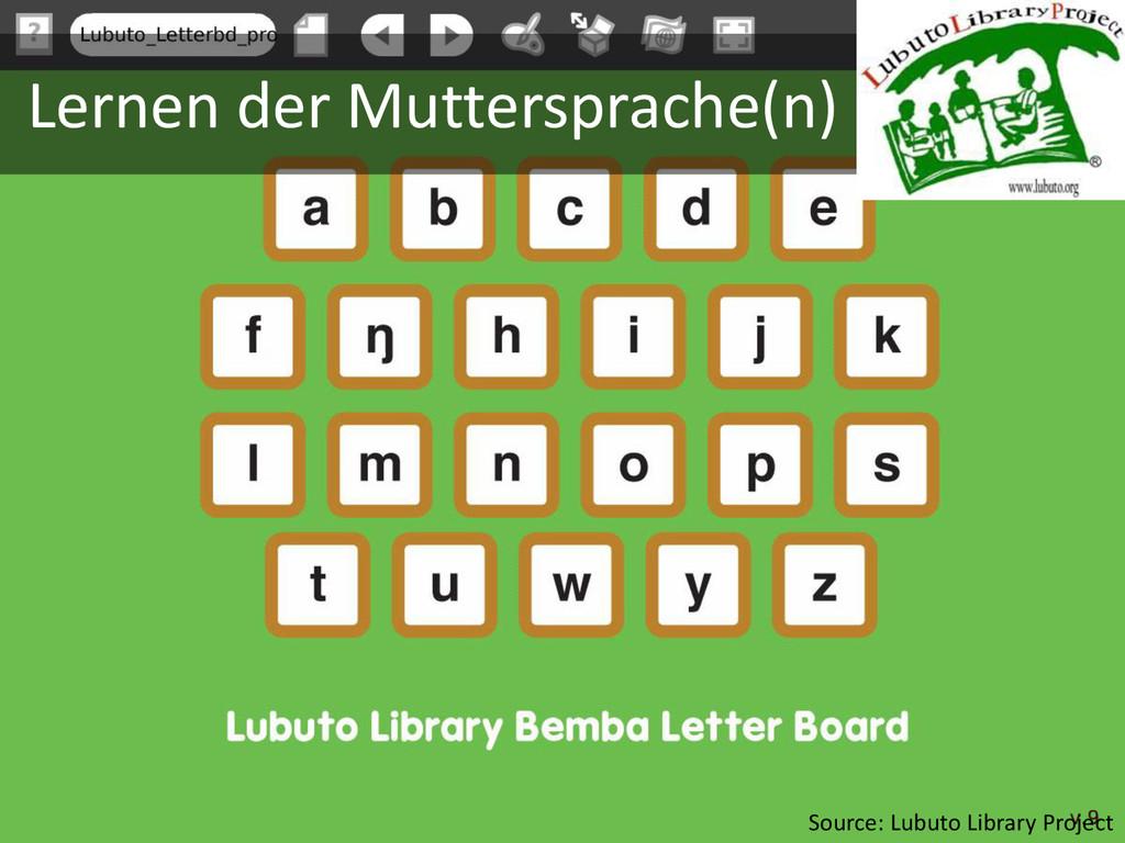 Lernen der Muttersprache(n) Source: Lubuto Libr...