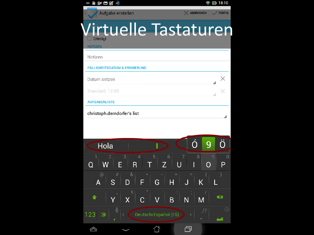 Virtuelle Tastaturen