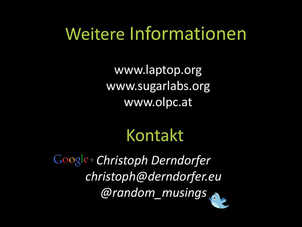 Kontakt Weitere Informationen Christoph Derndor...