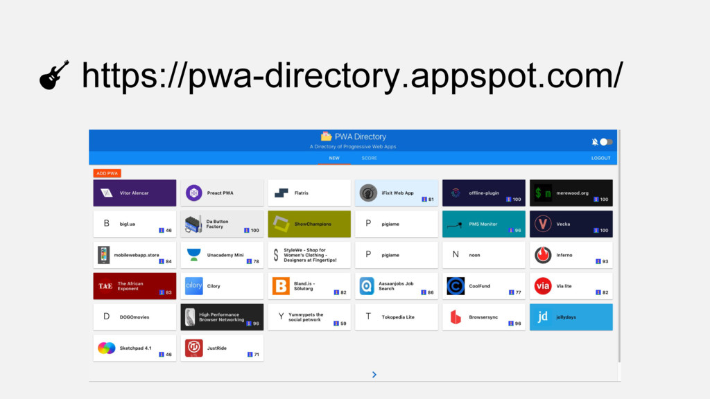 https://pwa-directory.appspot.com/