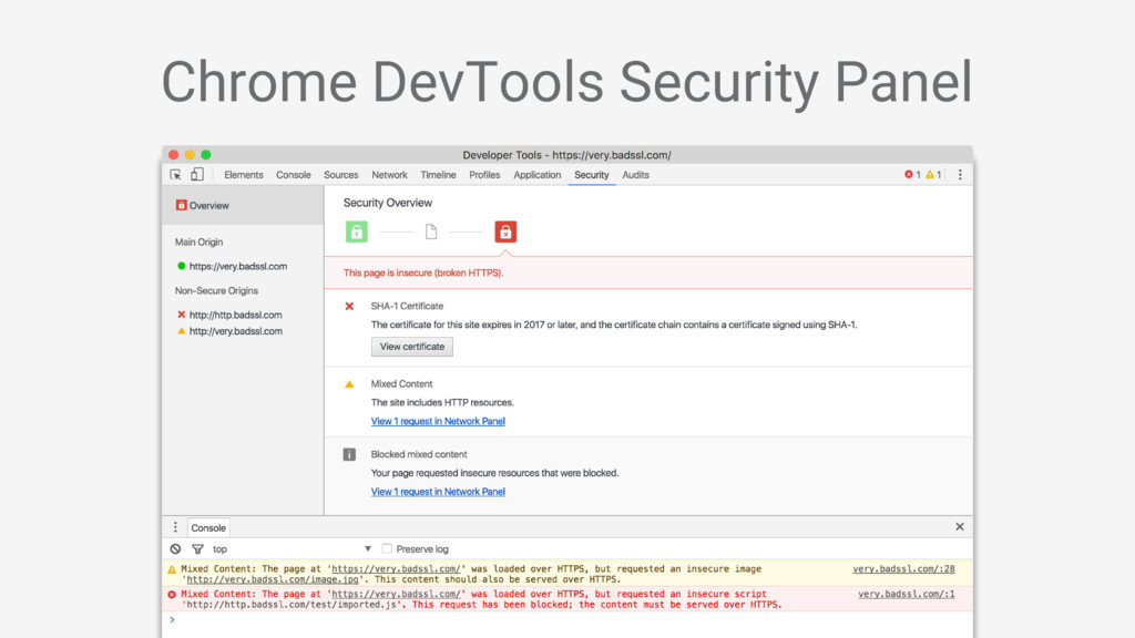 Chrome DevTools Security Panel