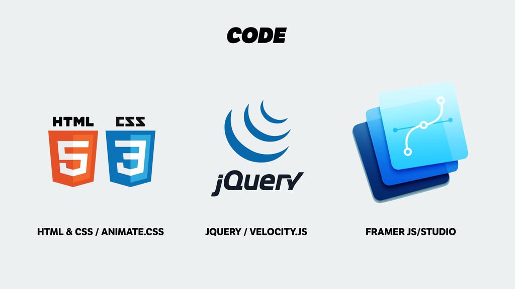 CODE FRAMER JS/STUDIO HTML & CSS / ANIMATE.CSS ...