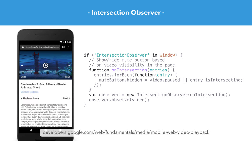 - Intersection Observer - developers.google.com...