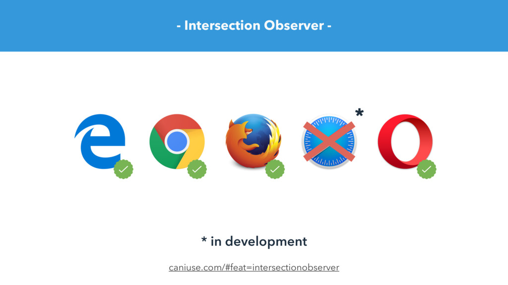 - Intersection Observer - caniuse.com/#feat=int...