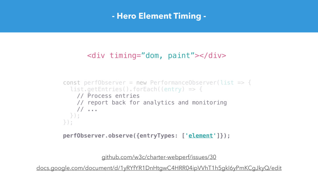 - Hero Element Timing - docs.google.com/documen...