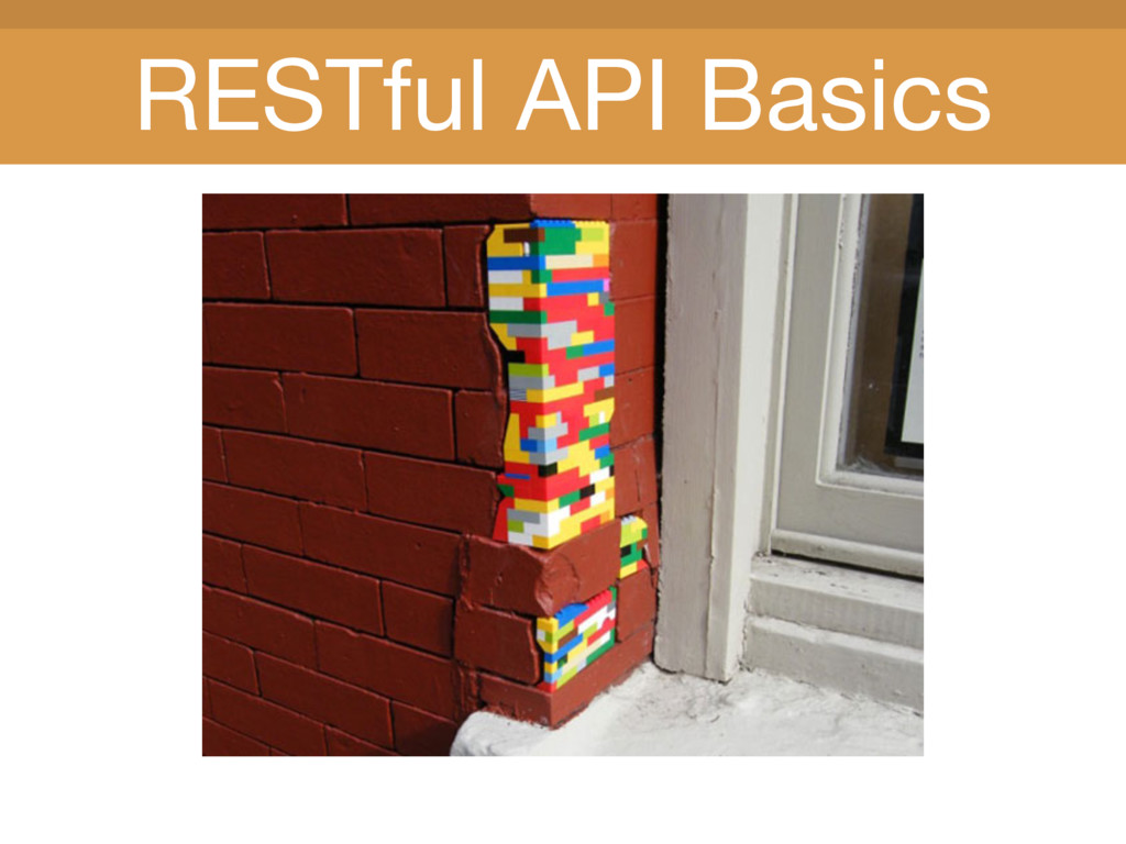 Title Title RESTful API Basics