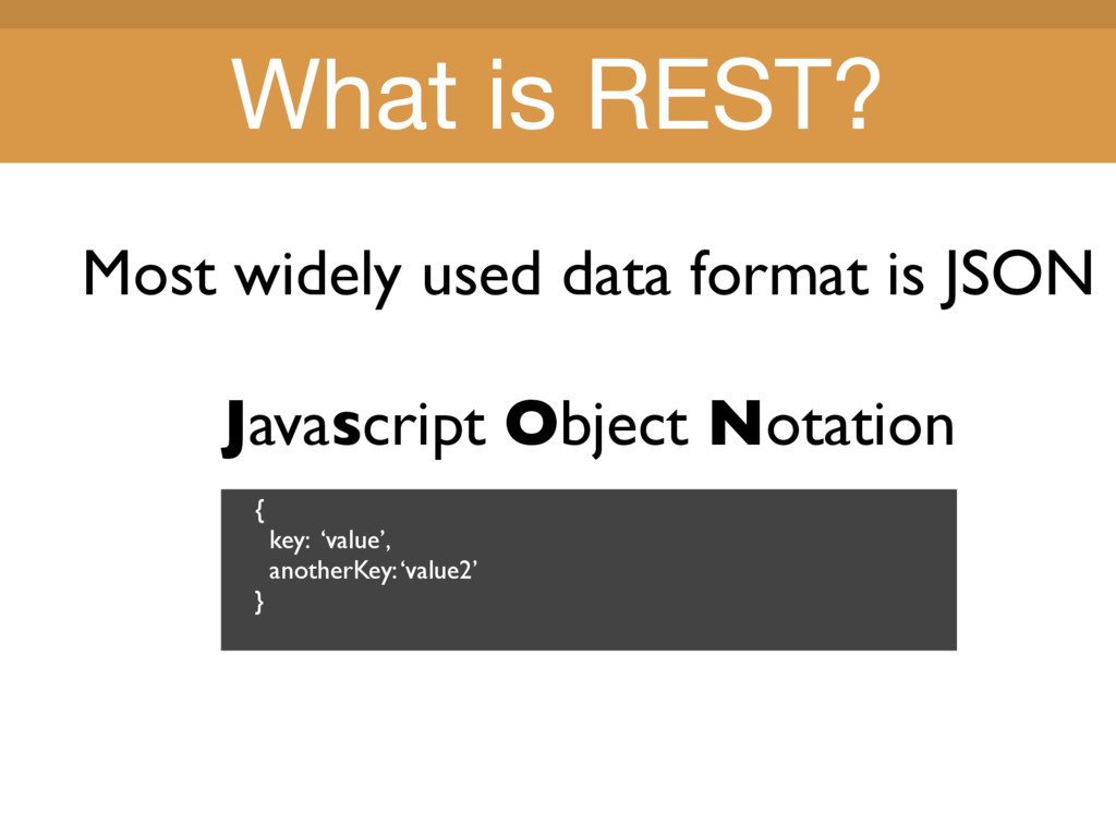 Title Title Most widely used data format is JSO...
