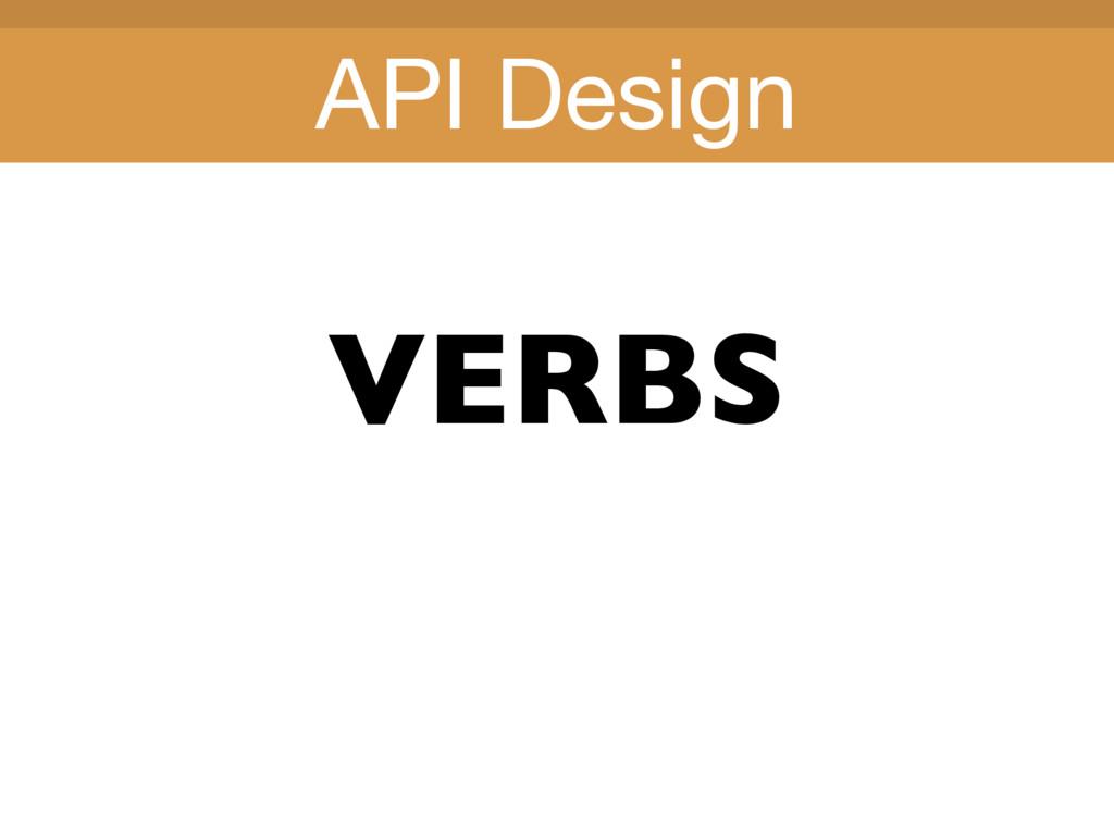 Title Title VERBS API Design