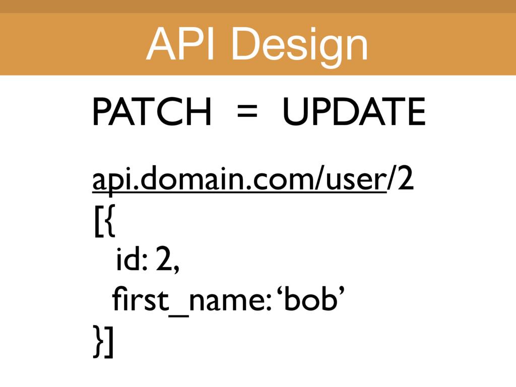 Title Title PATCH = UPDATE api.domain.com/user/...