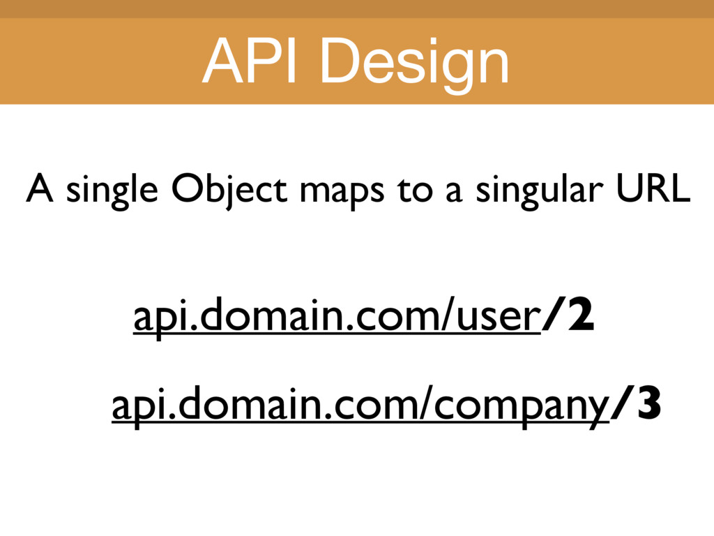 Title Title A single Object maps to a singular ...