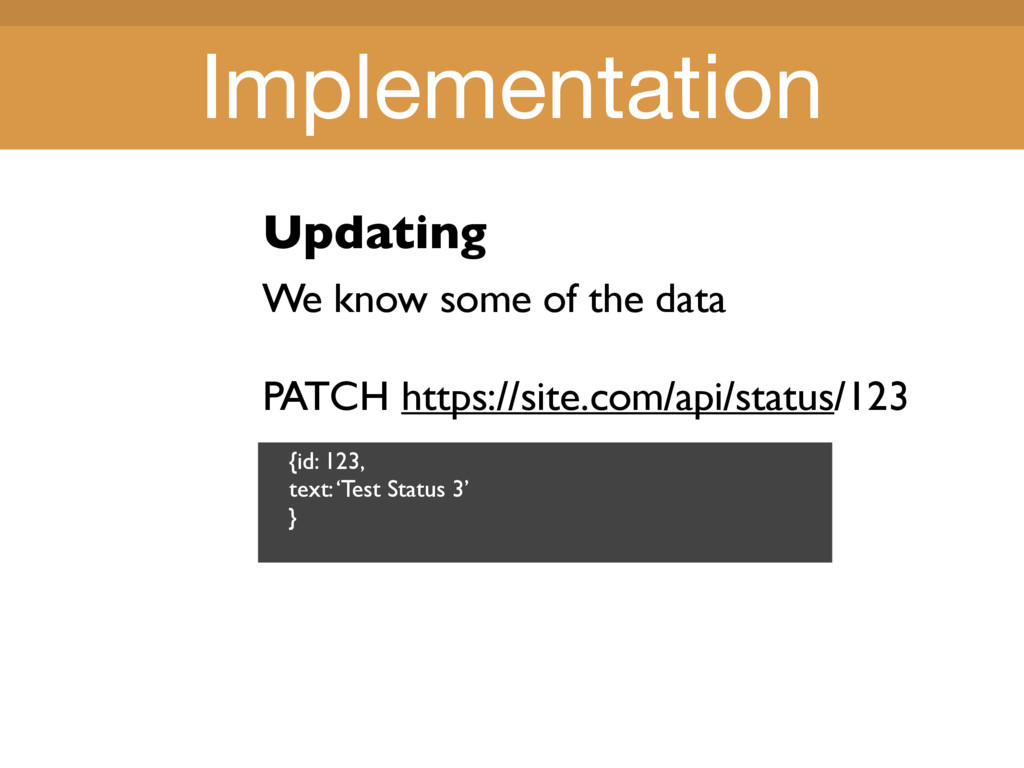 Title Title Updating We know some of the data P...
