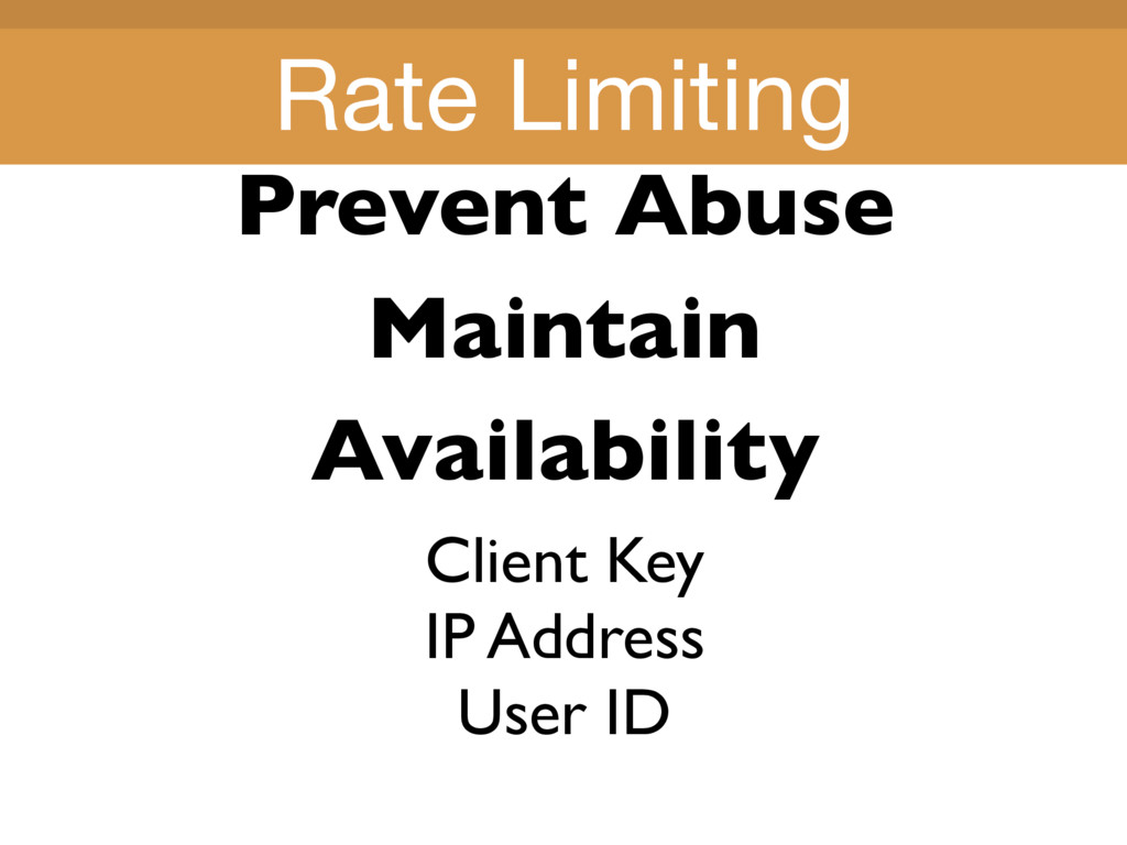 Title Title Prevent Abuse Maintain Availability...