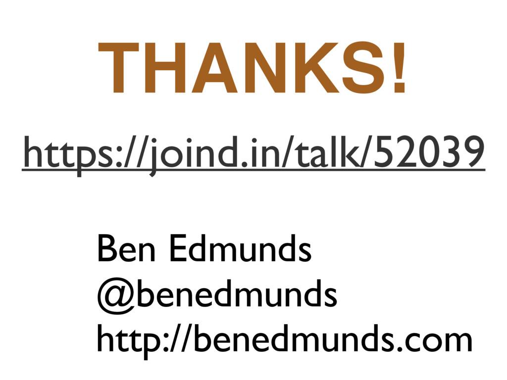 Ben Edmunds @benedmunds http://benedmunds.com h...