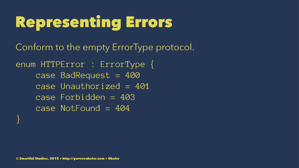 Representing Errors Conform to the empty ErrorT...