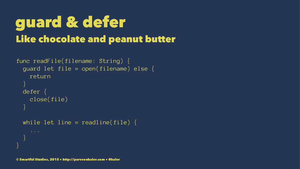 guard & defer Like chocolate and peanut butter ...