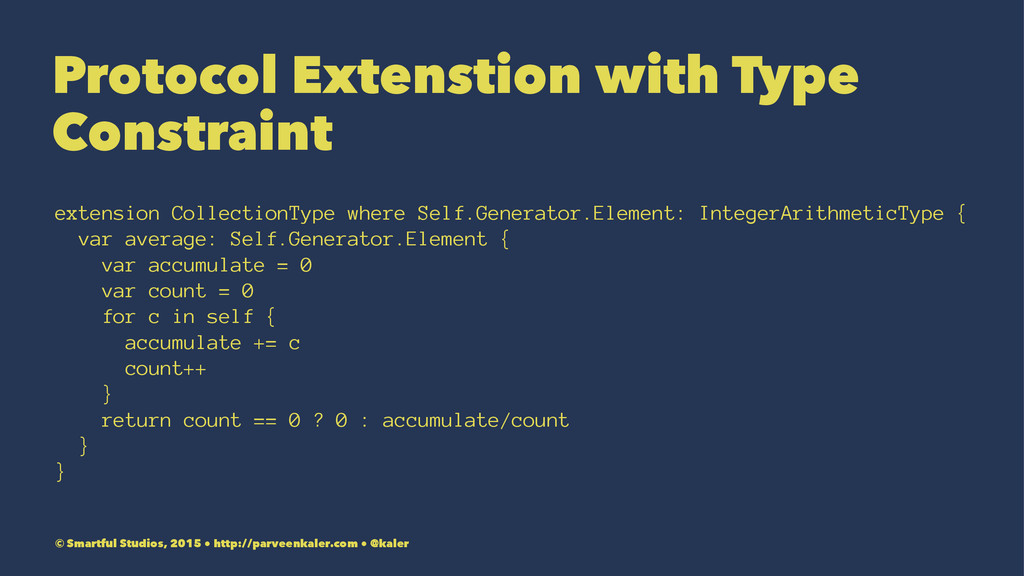 Protocol Extenstion with Type Constraint extens...